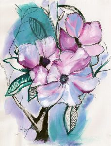Inked Flowers