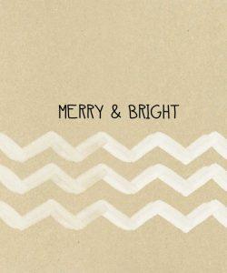 Krafty Merry and Bright White Chevron