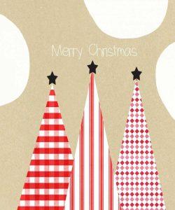 Krafty Merry Christmas Black Stars