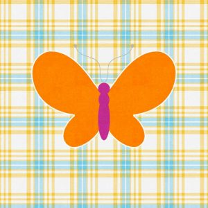 Plaid Butterfly I