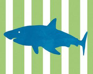 Blue and Green Shark II