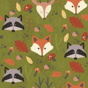 Fall Animal Pattern