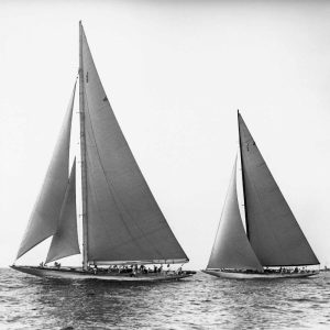 Sailboats in the Americas Cup 1934
