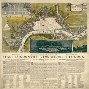 Map of London, 1666