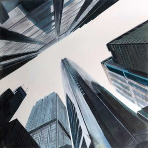 Perspective View of Skyscraper