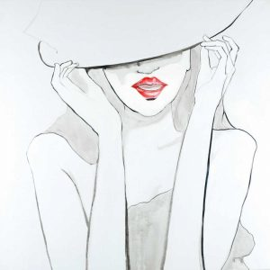 Woman with Big Hat