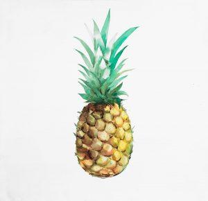 Watercolor Pineapple