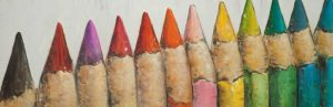 Colouring Pencils Close-up View