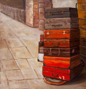 Old Traveling Suitcases