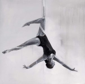 Woman Dancer on Aerial Silks