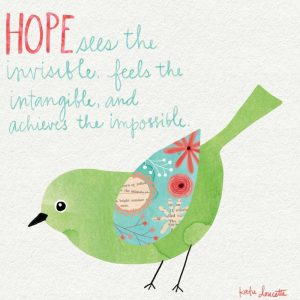 Hope Watercolor Bird