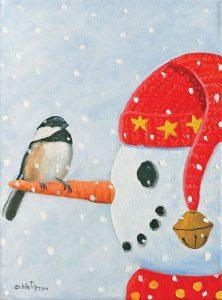 Snowman and Chickadee
