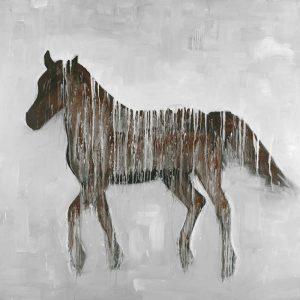 Gambading Abstract Horse
