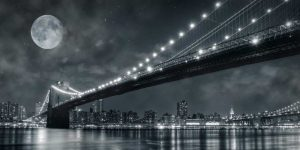 Brooklyn Bridge at Night – New York