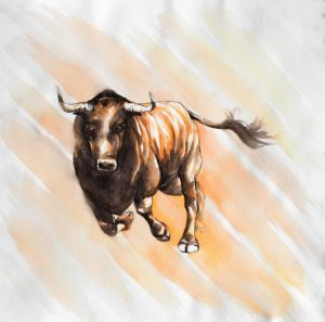 Bull Run in Watercolor