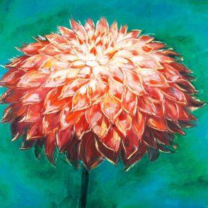Abstract Dahlia Flower