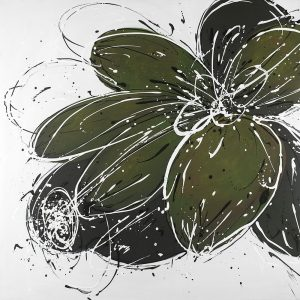 Flower with Paint Splash Outlines