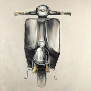 Small Black Moped