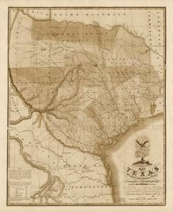 Map of Texas with parts of the adjoining states, 1837 – Decorative Sepia
