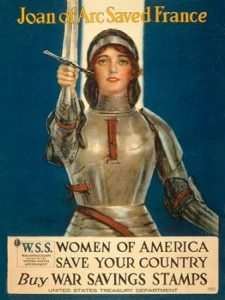 Joan of Arc Saved France–Women of America, Save Your Country, 1918