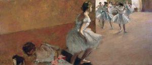 Danseuses montant un escalier, 1886-1890