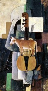 Cow and Violin, 1913
