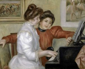 Yvonne and Christine Lerolle at the Piano, 1897-1898