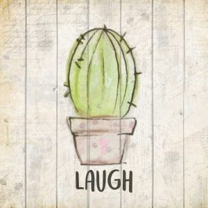 Watercolor Cactus Laugh