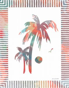 Watercolor Palms II