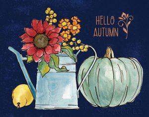 October Garden IV Blue