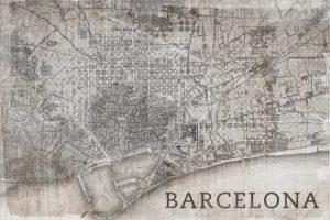 Map Barcelona Beige