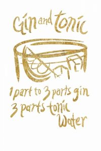 Gin and Tonic gold