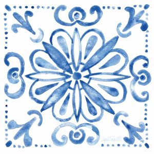 Tile Stencil IV Blue