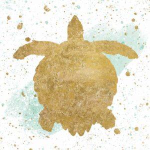 Silver Sea Life Aqua Turtle