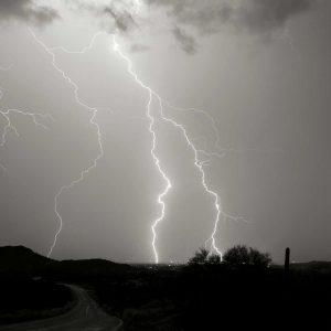 Summer Lightning II – BW