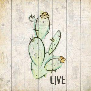Watercolor Cactus Live
