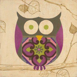 Green Boho Owl