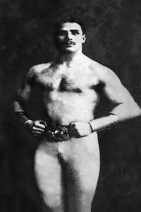 Bodybuilder in Tights