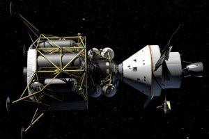Altair and Orion spacecraft: conceptual rendering