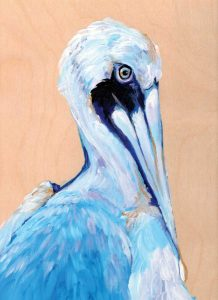 Blue and White Pelican