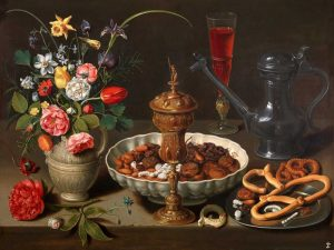 Still Life of Flowers and Dried Fruit