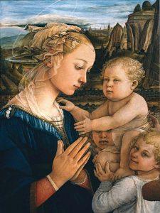Madonna col Bambino e angeli (detail)