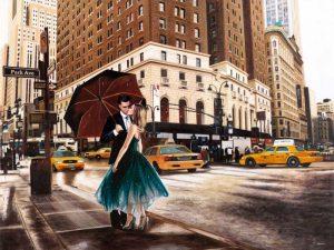 Kiss in Park Avenue