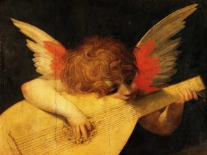 Angelo musicante (detail)