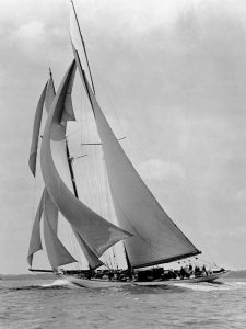 The Schooner Half Moon at Sail 1910s