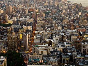 Aerial view of Manhattan, NYC