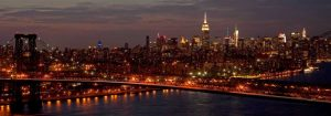 Midtown Manhattan and Williamsburg Bridge