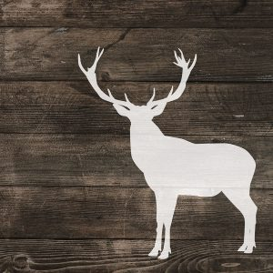 Right Side Deer Silhouette on Wood