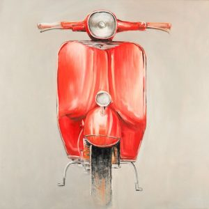 Small Red Moped