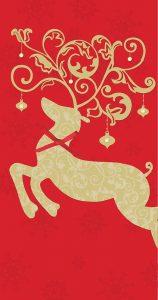 Intricate Leaping Reindeer